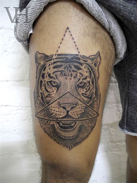 geometric tiger tattoo geometric images designs