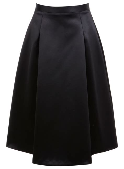 black satin midi skirt miss selfridge