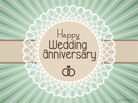 Wedding Anniversary Cards By Email by Happy Wedding Anniversary Simple Greeting Graphicsplay