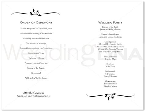 sle church program episcopal wedding ceremony program template wedding
