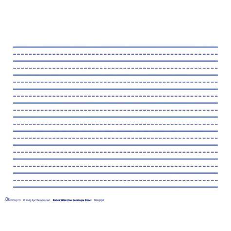 raised line papers horizontal wide space broken midline