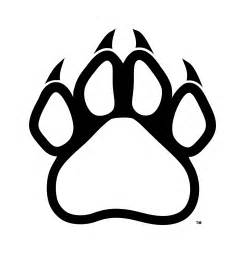 Logo Black Panther Outline by Panther Paw Prints Clipart Best