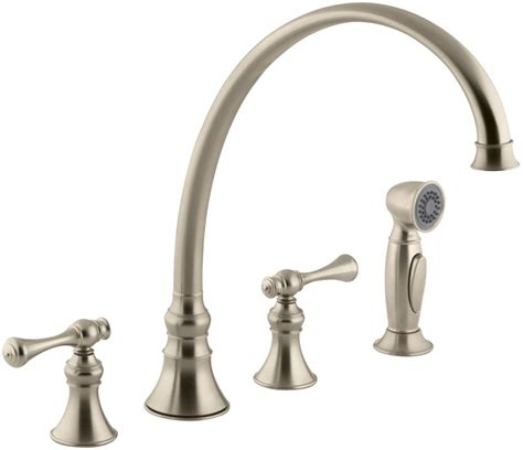 kohler gooseneck kitchen faucet kohler k 16111 4a bv brushed bronze revival high arch gooseneck kitchen faucet with traditional