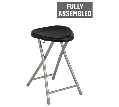 Argos Folding Bar Stools by Buy Simple Value Black Folding Single Stool At Argos Co Uk