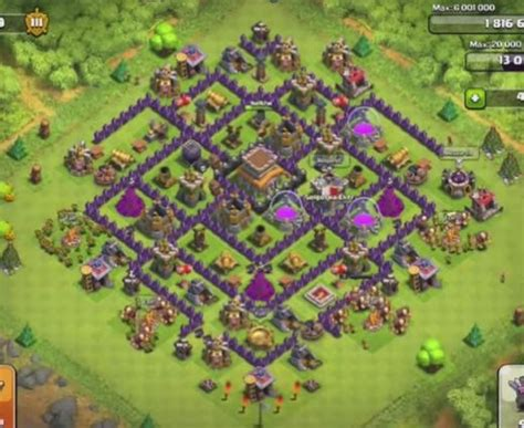 coc layout heart best clash of clans town hall level 8 base layout clash