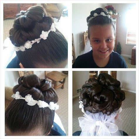 cute hairstyles for first communion 1000 images about jillian s first communion hairstyle on