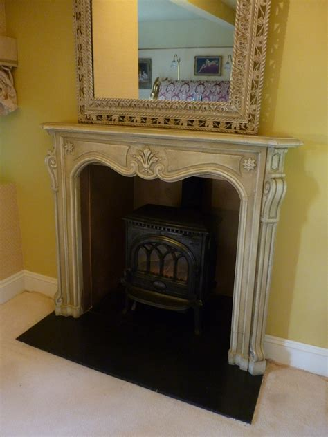 Shabby Chic Fireplace by Painted Shabby Chic Fireplace