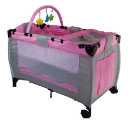 Baby Folding Bed New Pink Portable Child Baby Travel Cot Bed Bassinet Playpen Play Pen With Toys Ebay