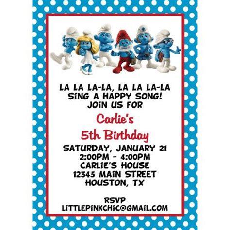 smurf baby shower invitations smurfs invitations smurfs birthday invitation smurfette