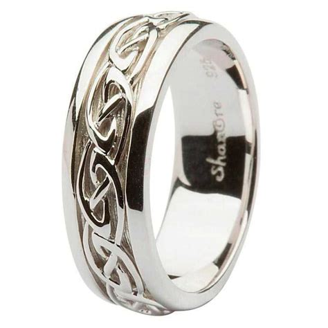 gent silver celtic knot wedding ring
