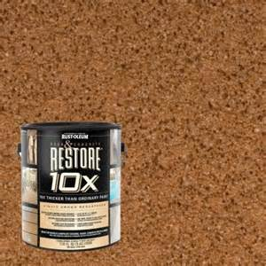 restore 10x colors rust oleum restore 1 gal timberline deck and concrete 10x