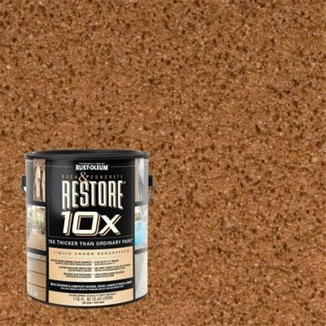 rust oleum restore 1 gal timberline deck and concrete 10x resurfacer 4615801 the home depot