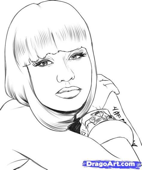 nicki minaj coloring pages how to draw nicki minaj step by step free
