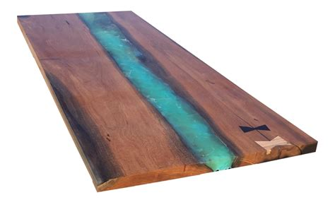 live edge table top canary wood and resin live edge table top chairish