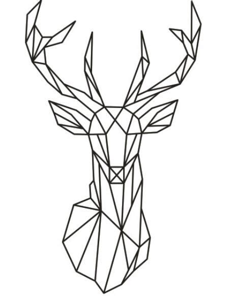 Origami Home Decor by 2016 New Design Geometric Deer Head Wall Sticker Geometry