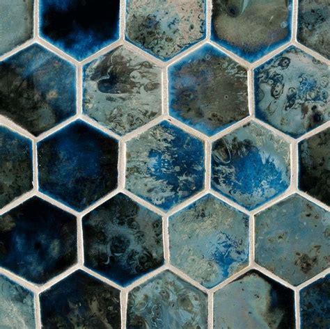 hexagonal 9inchx 3inch whitefriars blue blue hexagon tile tile design ideas