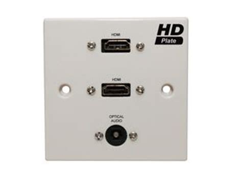 Ink Duke Solid2visor white single dual hdmi with optical wall plate av installs ltd professional audio visual