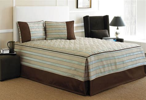 fitted coverlet rivington blue beige fitted bedspread 11892365