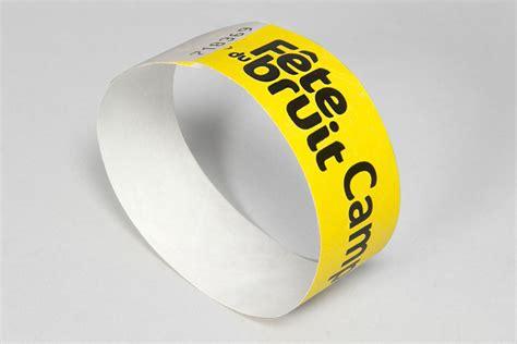 Bracelet tyvek imprimé, bracelet personnalisé   Oscar