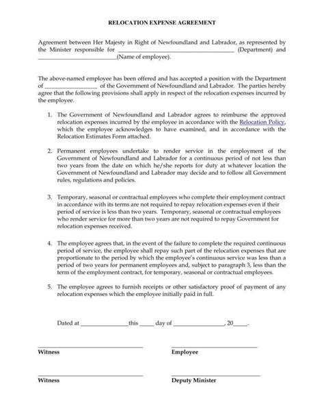 12 Relocation Agreement Templates Pdf Free Premium Templates Relocation Agreement Template