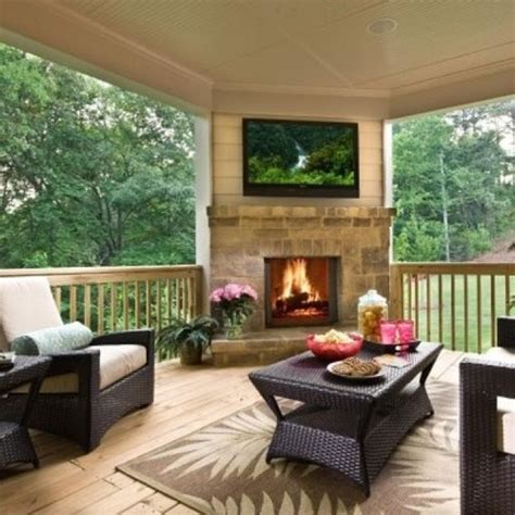 back porches back porch fireplace home
