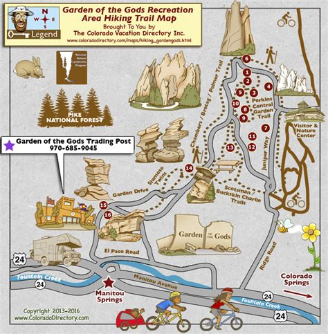 garden of the gods map garden of the gods hiking trails map colorado vacation directory