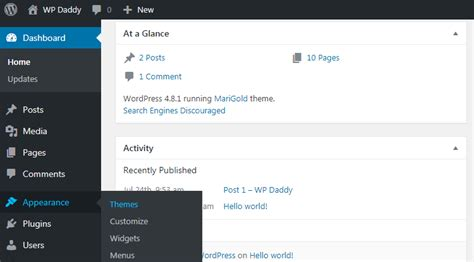 themes com appearance how to manage and customize a wordpress theme
