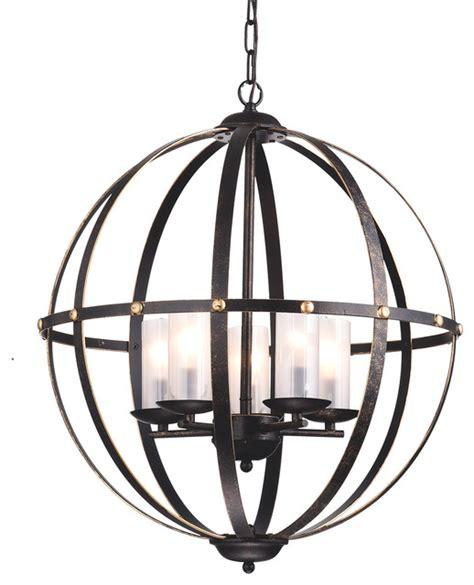 industrial chandeliers world globe cage chandelier bronze industrial