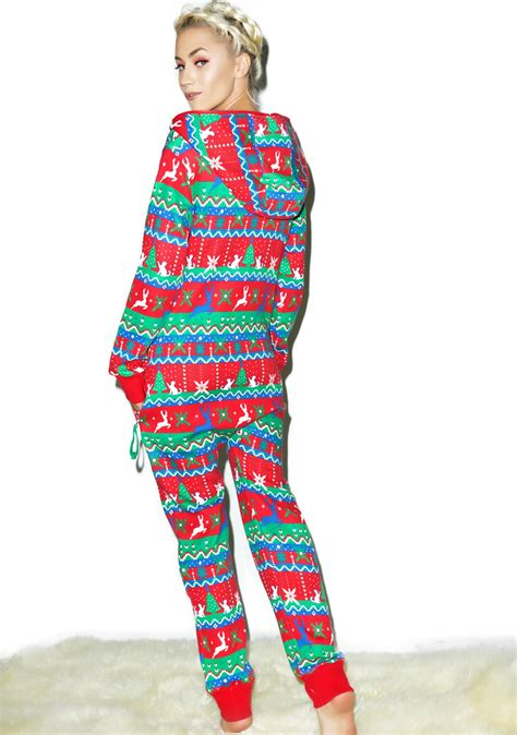 tipsy elves christmas present jumpsuit dolls kill