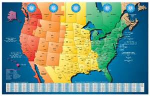 North American Time Zone Map by Amazon Com North America