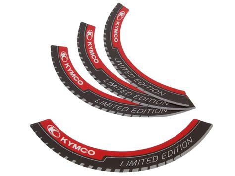 Aufkleber Kymco Roller by Felgenrand Aufkleber Kymco Limited Edition F 252 R 12 Zoll