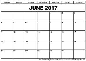 free calendar templates to print june 2017 calendar printable templates printable