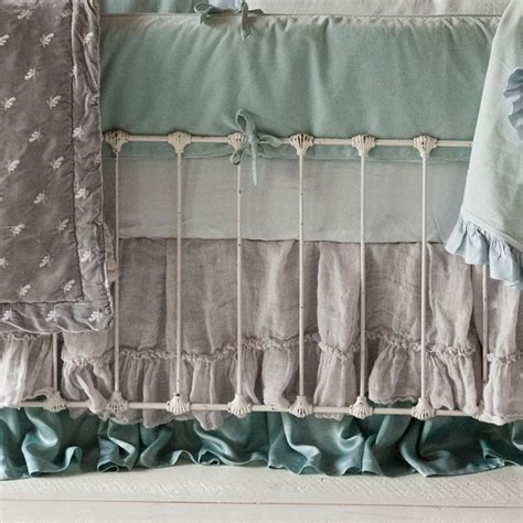 What Is Dust Ruffle For Crib by Linen Whisper Crib Dust Ruffle By Notte Linens