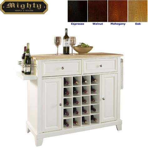 kitchen home bar products white kitchen island bar with 20 bottles wine storage