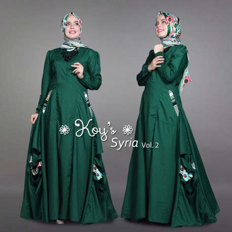 Syiria Green syiria green bottle pusat busana gaun pesta muslim modern