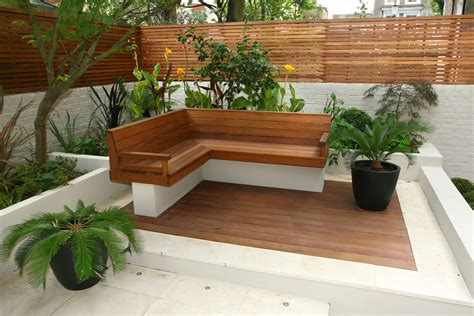 Contemporary Chic Garden Slatted Hardwood Trellis By Ben Decking Designs For Small Gardens