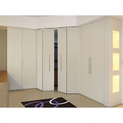 Closet Systems With Doors Pl 2550 Bi Folding Door System For Closets With 3 4 Quot 19 Mm Thick Doors Richelieu Hardware