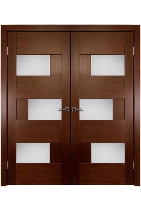 Stylish Interior Doors Stylish Brown Wooden Interior Doors With Glass Decor Idea Interior Doors With