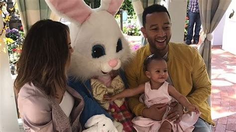 Vilailuck Teigen Also Search For Chrissy Teigen And Legend Take To Meet The Easter Bunny