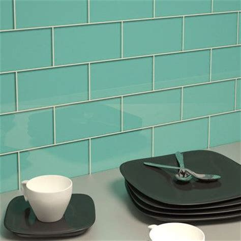 aqua glass subway kitchen backsplash home decor kitchens