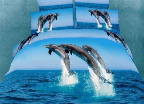 dolphin bed set dm435q queen 6 piece duvet cover set beach house bedding