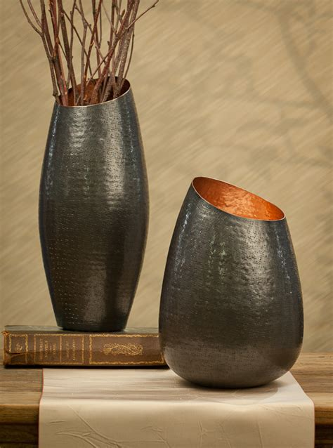 bronze copper vase 12 5h 5d home decor