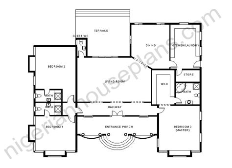 floor plan 3 bedroom bungalow house anthony olusegun page 2 nigerianhouseplans
