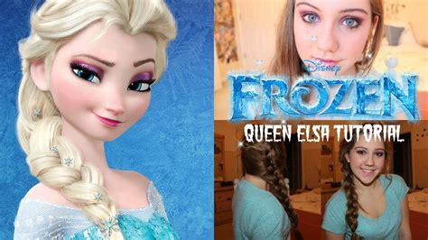 queen elsa makeup tutorial queen elsa hair and makeup tutorial beautyisyou02 youtube
