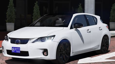 lexus ct200h mods lexus ct200h 12 add on gta5 mods com