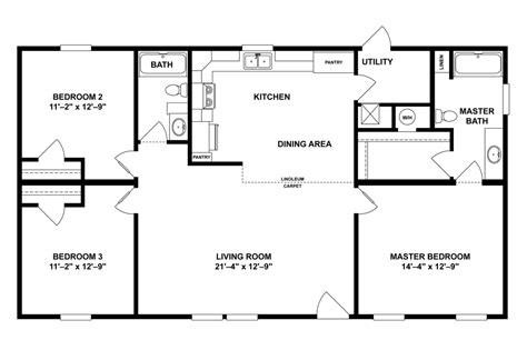 old mobile home floor plans floor plans for old mobile homes