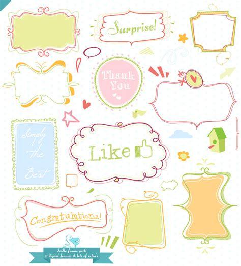 doodlebug frame mega doodle pack with design elements by