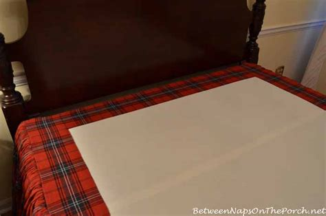 how to make a bedskirt for a high bed