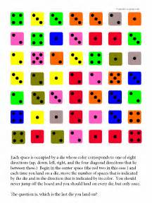 dice directions brain teaser