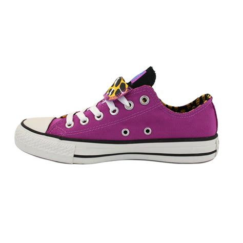 converse shoes for converse all tongue womens purple trainers new